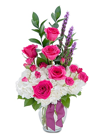 Pleasantly Pink Flower Arrangement