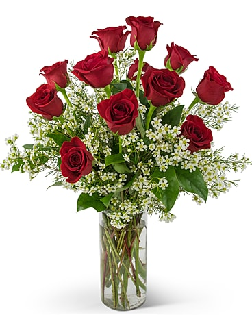 Swoon Over Me Dozen Red Roses Flower Arrangement