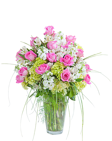Pink And White Elegance Vase In Yellowknife Nt Rebeccas Flowers Too