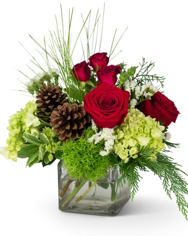 Wintertime Warmth Flower Arrangement