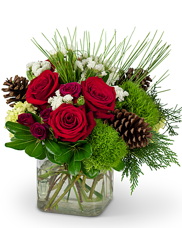 Wintertime Blooms Flower Arrangement