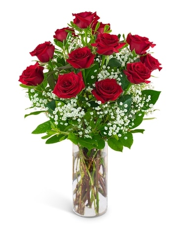 Dozen Red Roses and a Million Stars Flower Arrangement