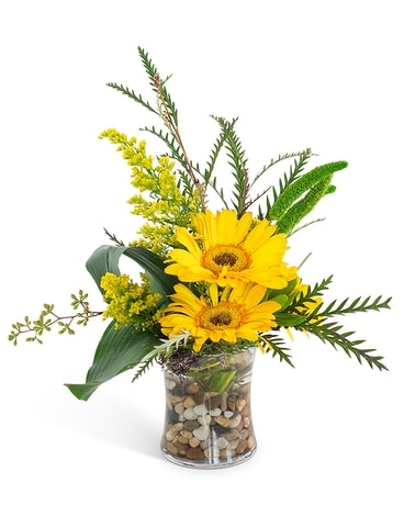 Golden Morning Flower Arrangement