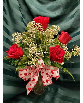 Woodland's Own 1/2 Dozen Red Roses Flower Arrangement