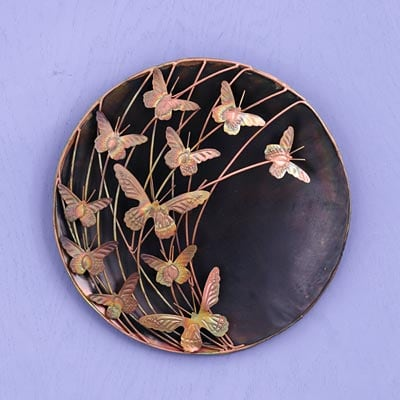24 inch Butterfly Wall Plate