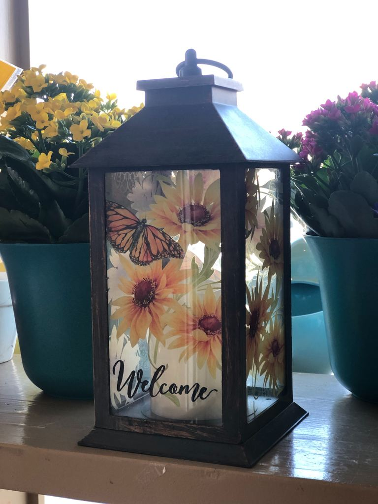 Candle Lantern - Welcome