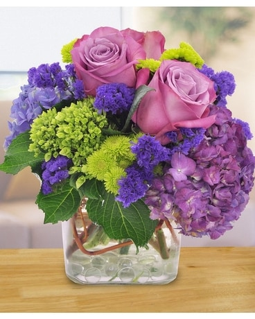 Purple Perfection Flower Arrangement