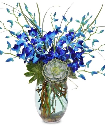 Bluesy Monday Flower Arrangement