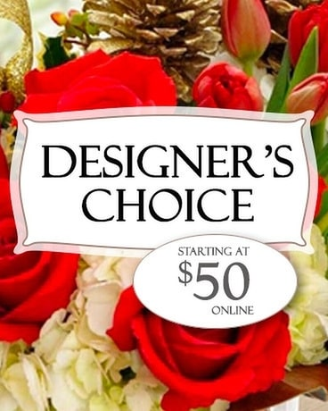 Alfa's Designer's Choice - $50 Flower Arrangement