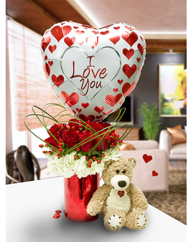 Passionate Kisses Combo Flower Arrangement