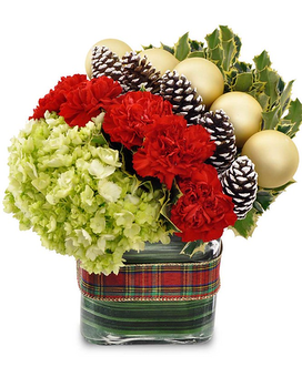 Seasons Greetings Bouquet Flower Arrangement