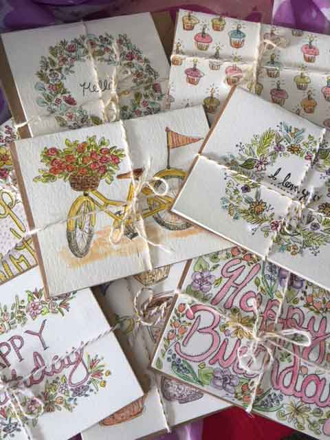 Hand Made Painted Cards