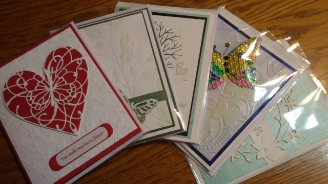 Hand Made Cards Scrapbook Style