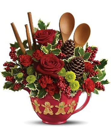 Christmas Cookie Bq Flower Arrangement