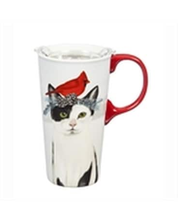 Travel Cup Christmas Cat