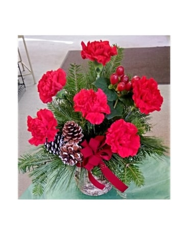Rustic Carnations Flower Arrangement