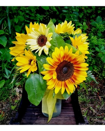 Sunflower Vase Flower Arrangement