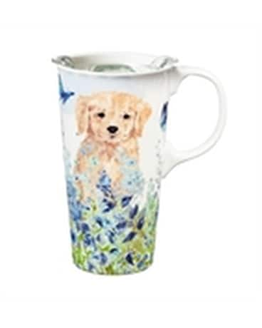 Travel Cup Puppies In The Meadow Gifts