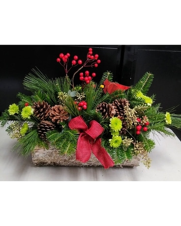 Woodland Centerpiece Flower Arrangement