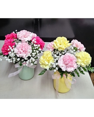 Pastel Carnations Flower Arrangement