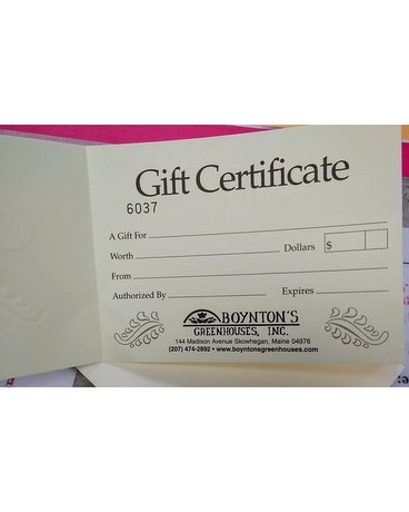 Gift Certificate Gifts