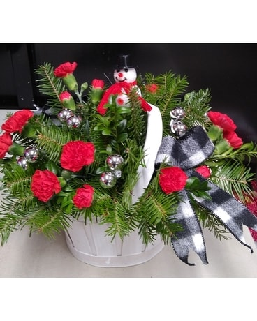 Frosty's World Flower Arrangement