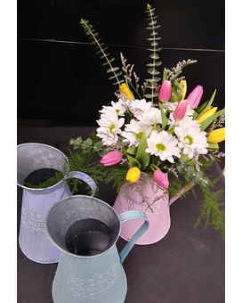 Spring Garden Pitcher Flower Arrangement