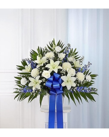 Tribute Blue And White Standing Basket