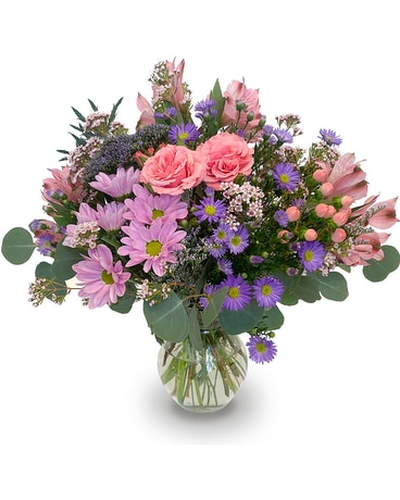 A Romantic Garden Walk Flower Arrangement
