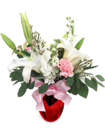 Heartfelt Love of Lilies Flower Arrangement