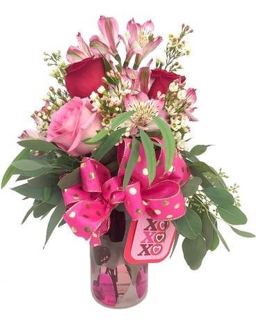 The Santa Fe Heart Bouquet Flower Arrangement