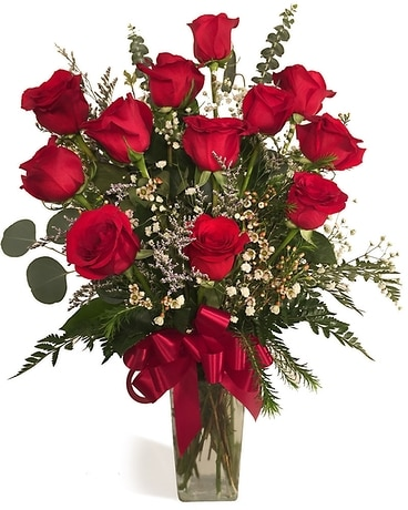 The Ultimate Dozen Roses Flower Arrangement