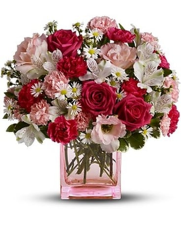 Teleflora's Pink Dawn Bouquet-Deluxe Flower Arrangement