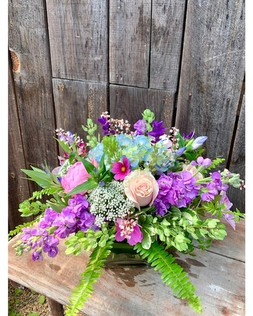 Lavender Lace Flower Arrangement