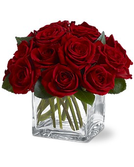 TF's Dozen Rose Contempo Flower Arrangement