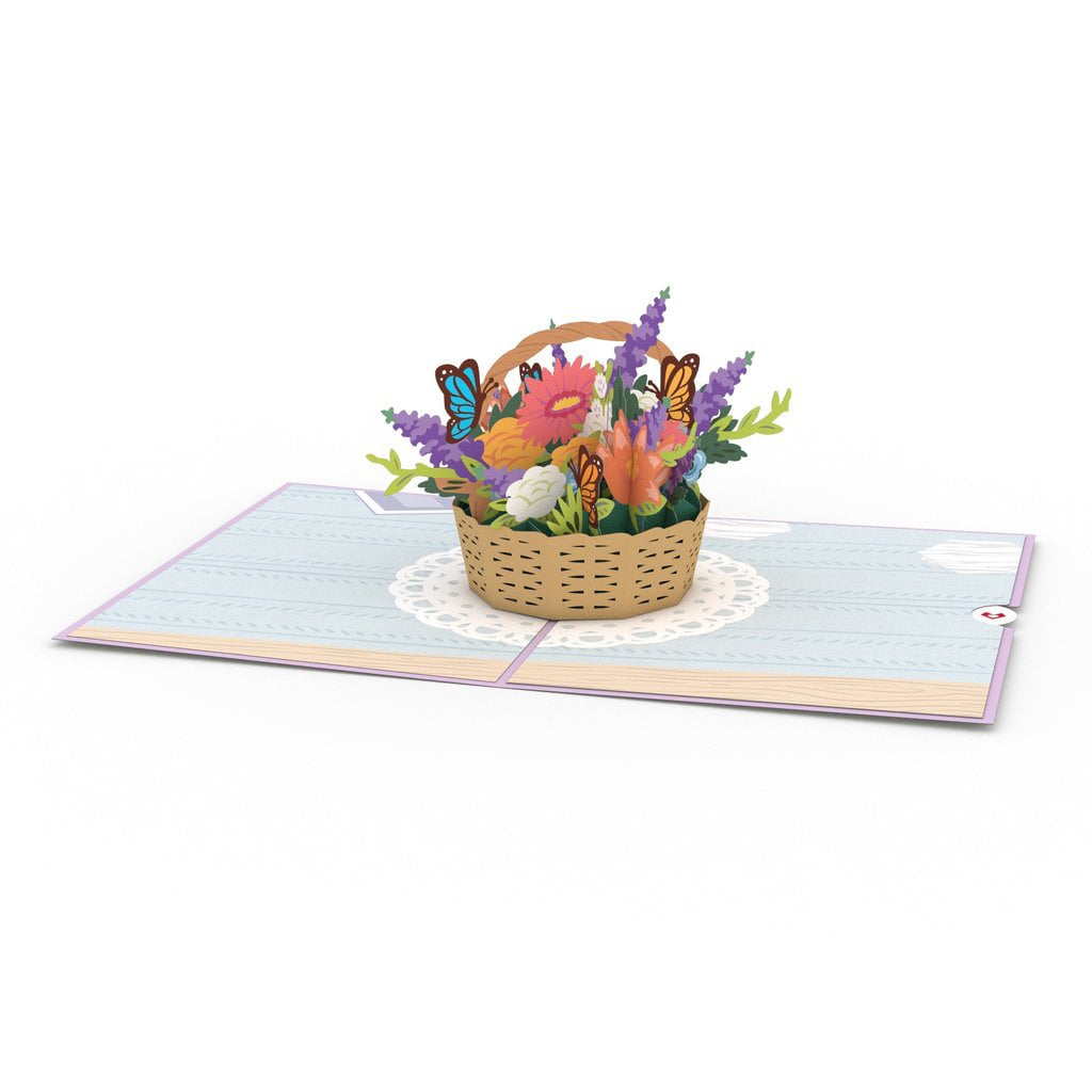 Lovepop Flower Basket Card