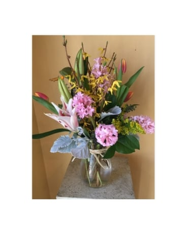 Mothers day flowers delivery hales corners wi barbs green house quick view spring jordan vase mightylinksfo