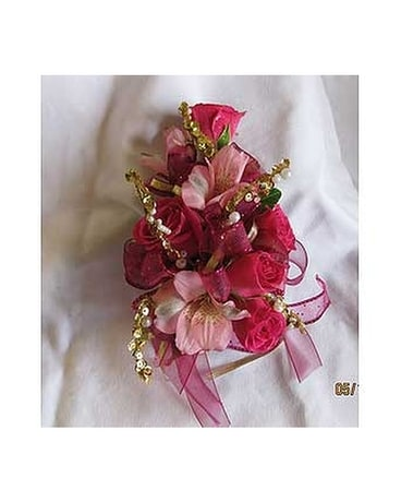 Pink & Gold Corsage Custom product