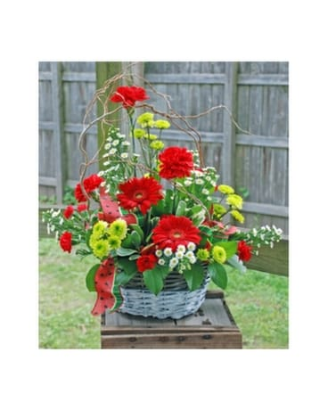 Watermelon Basket Flower Arrangement