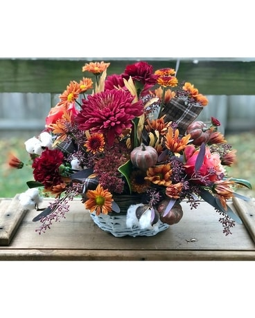 Homespun Fall Flower Arrangement