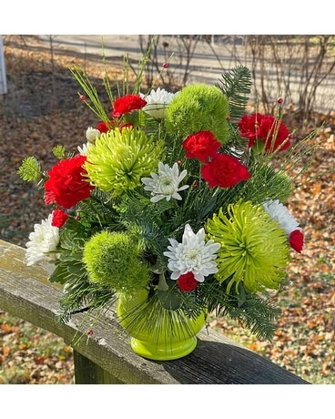 Holiday Party Flower Arrangement