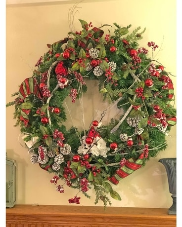 'Tis the season wreath Flower Arrangement