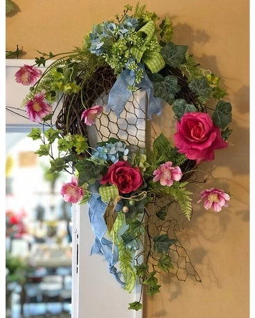 Sweet and Neat Spring Wreath Specialty Arrangement