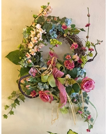 Nearly Natural Spring Wreath Specialty Arrangement
