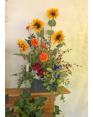 Harvest Mantle Piece Specialty Arrangement
