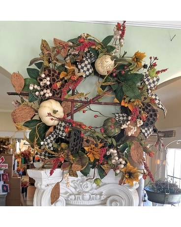 Gourds Galore Wreath Specialty Arrangement