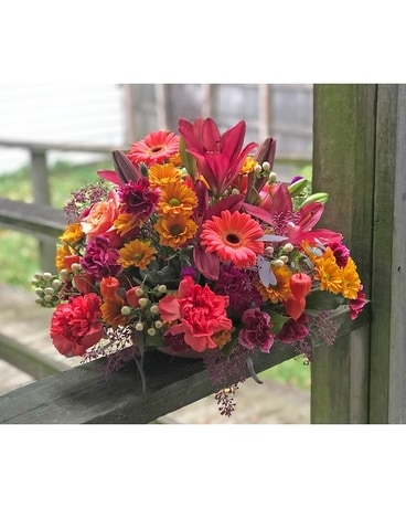 Happy Harvest Centerpiece Flower Arrangement