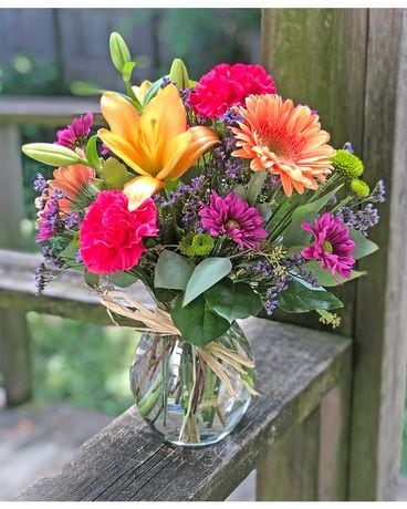 Colorful Surprise Flower Arrangement