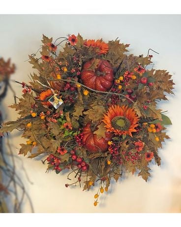 Classic Fall Wreath Specialty Arrangement