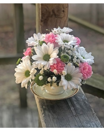 Tea Time Flower Arrangement